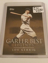2009 Topps Legends of the Game Career Best #LG Lou Gehrig : New York Yankees - $3.56