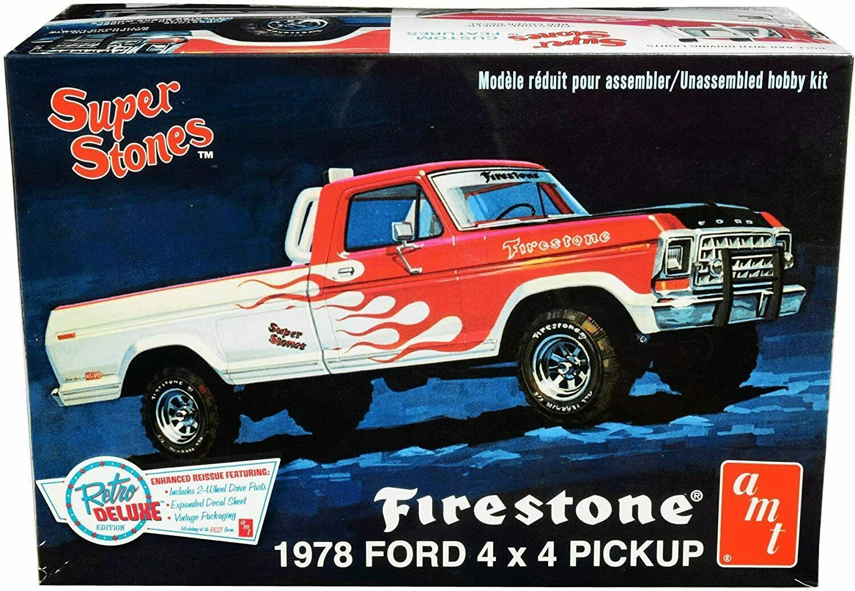 AMT Super Stones Firestone 1978 Ford 4x4 Pickup 1:25 Scale Model Kit New in Box - $32.88