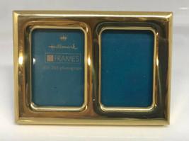 "Brass Hallmark School Picture Frame 2.5"" x 3"" Double Hinged Desk - $16.82"