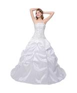 New Arrival Wedding Dresses White Ivory Taffeta Bridal Gown Formal Dress - £75.26 GBP