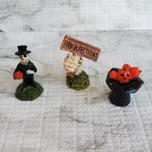Cemetery Fairy Garden Kit, Miniature Halloween Village Set, Grim Reaper Ghost image 7