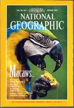 National Geographic Magazine January 1994 Macaws, New Eyes on the Universe - $3.99