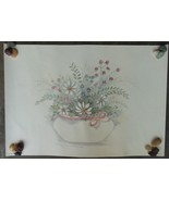 "Vintage Mary Bertrand L/E Signed Lithograph Print ""Pink Satin Ribbon ""  ... - $24.00"