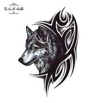 Gam-Belle® Wolf Head Water Transfer Fake Waterproof Temporary Tattoo Sticker DIY - $2.07