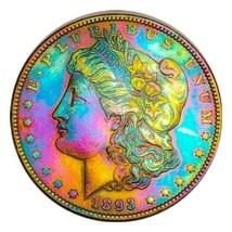 1893 MORGAN SILVER DOLLAR MONSTER PARRIOT TONING, KEY DATE * 272 - $445.90