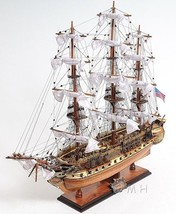 "USS Constitution Old Ironsides Tall Ship 29"" Wo... - $539.95"