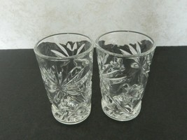 EAPC Anchor Hocking early American Prescut Star of David Juice Glasses L... - $12.75