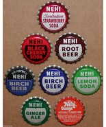 Vintage soda pop bottle caps NEHI Collection of 8 different unused new old stock - $8.99