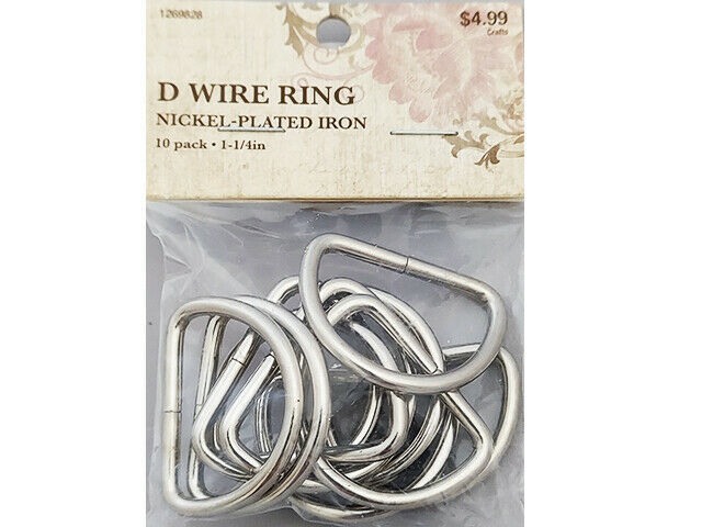 Hobby LobbyD Wire Ring, Nickel Plated Iron, 10 Pack #1269828