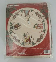 Vintage Janlynn Christmas Cross Stitch Santa Tree Skirt Kit #40-73 New - $36.62