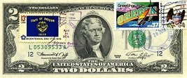 MONEY US $2 DOLLARS 1976  DAY STAMP CANCEL STATE FLAG OREGON LUCKY MONEY... - $191.25