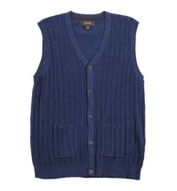 Tasso Elba Men's Cable-knit Navy Blue Vest Knit Pullover Sweater - $30.99