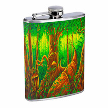 Fantasy Forest Plant Em1 Flask 8oz Stainless Steel Hip Drinking Whiskey - $13.81