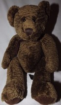 """Bixby Bear #4933 Russ Berrie Bears From The Past 10"""" Textured Brown Fur Retired - $16.44"""