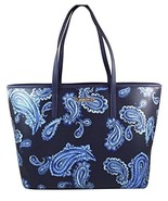 MICHAEL Michael Kors Emry Admiral Blue Paisley Saffiano Leather Large Tote - $189.00