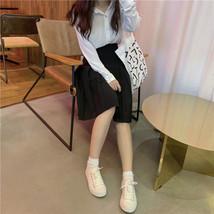 Women Girl Black Pleated Midi Skirt Outfit Plus Size Black Tennis Skirt US0-US16 image 8