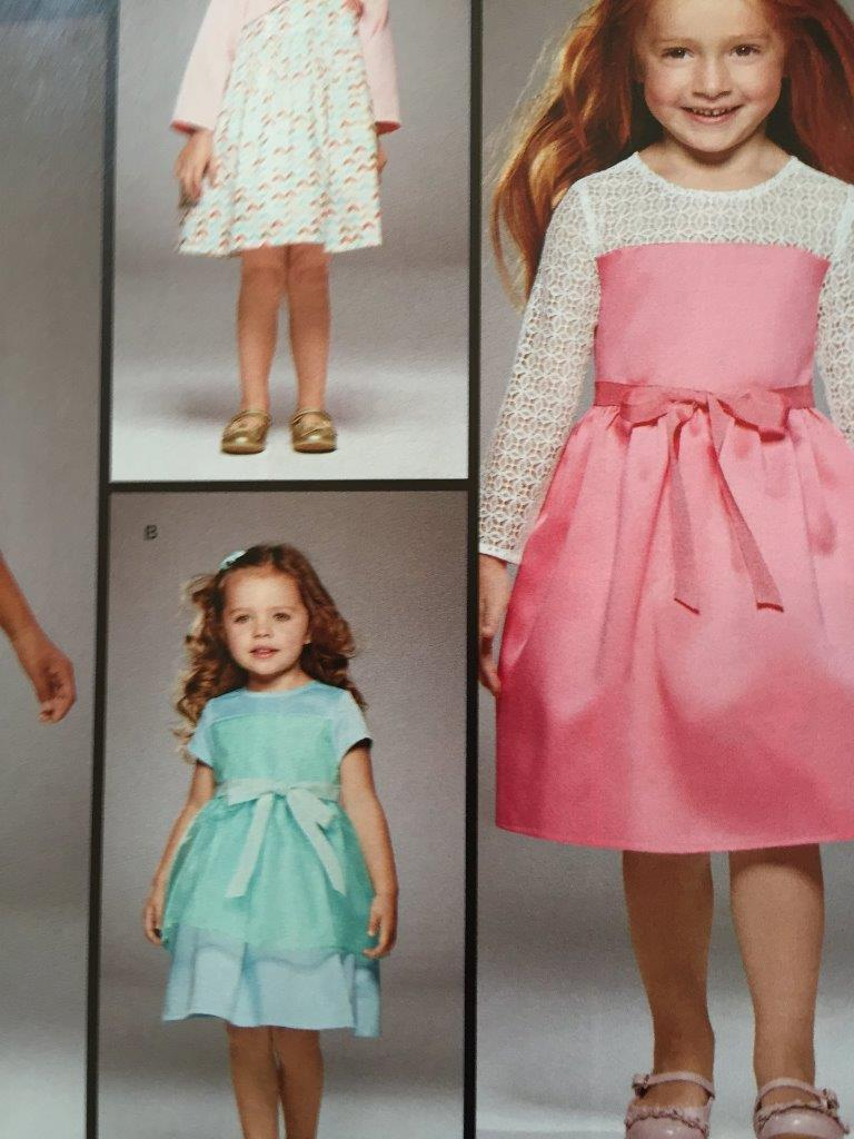 Simplicity Sewing Pattern 8025 Girls Childs Dress Bolero Size 1/2 - 3 New image 3