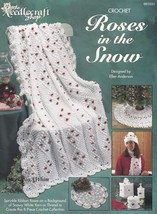 Roses in the Snow, Crochet Patterns TNS 981031 Afghan Doily Tree Skirt &... - $12.95
