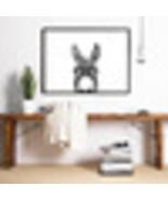 Peekaboo Animal Face Donkey Wall Art Canvas Posters Prints Farm Photogra... - $31.82