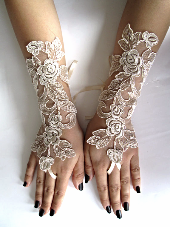 how to make lace wedding gloves