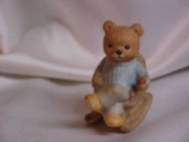 Homco - 1470 - Grandpa Bear in a Rocking Chair Holding Pipe - Vintage 19... - $9.99