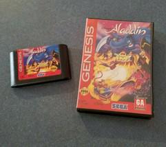 Disney's Aladdin  (Sega Genesis, 1993) w/ Case Tested FUN Kids Game Fast... - $12.19
