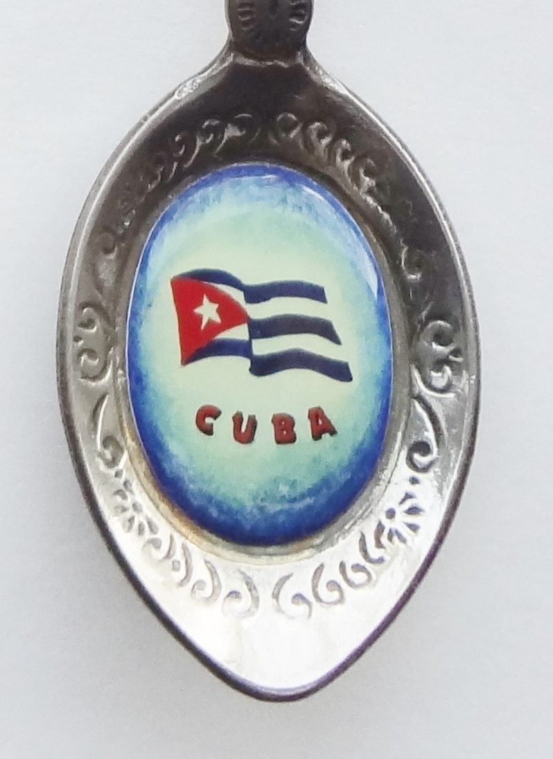 Primary image for Collector Souvenir Spoon Cuba Coat of Arms Flag Double Emblems