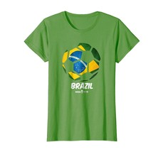 New Shirts - Best Brazil Soccer Ball Flag Jersey Shirt - Brazilian Futbo... - $19.95+