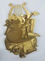 Vtg. Homco Syroco 7236 Harp Mandolin Wall Hanging Plaque Music image 2