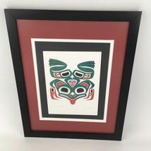 Joe Mandur Jr Signed Art Card Print Framed Matted Frog With A Heart Haid... - $29.69