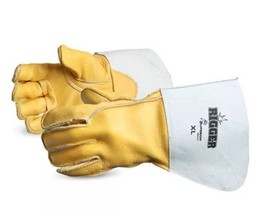 Welding Gloves, Superior 365GC Deluxe Cowgrain Leather Rigger Glove, XXL - $14.96