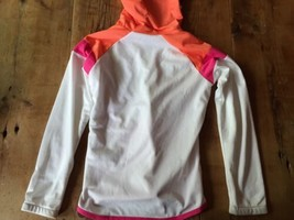 Nike Fit Dry Youth L 14 Orange Pink White running hoodie mint - $9.49