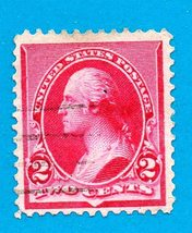 Scott    #220 - Used 1890 US Postage Stamp 2c George Washington - $2.99