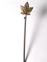 Antique Art Deco Sterling Stick Pin Maple Leaf Solid Color 1800s - 1900s - $34.60