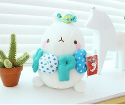 Molang Melody Plush Figure Toy Stuffed Animal Rabbit Cushion 9.8 inches (Blue) image 5