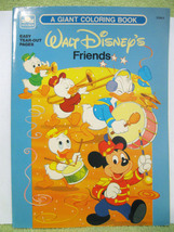 WALT DISNEY FRIENDS Vtg Coloring Book '87 MICKEY MOUSE Minnie DAISY DUCK... - $16.99