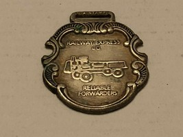 Vintage Watch Fob - Railway Express Co. Reliable Forwarders - $39.74 CAD