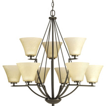 Antique Bronze Finish 2 Tier Hanging Chandelier Light Progress Lighting ... - $286.11