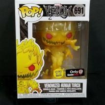 Funko Pop Venomized Human Torch GITD Glow In The Dark GameStop Venom 691... - $34.64