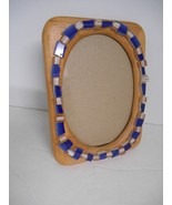 Upcycled Oak Picture Frame w/Mosaic Tiles & Beads~Vert/Horiz Hanging/Des... - $15.50