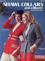 Shawl Collars and a Blazer Knit & Crochet Pattern Book LA33 4 Designs - $3.57