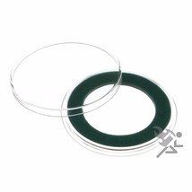 Air-Tite 32mm Green Velour Ring Coin Capsule Holders Qty: 10 - $12.45