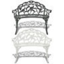 vidaXL Garden Bench Chair Porch Park Aluminum Outdoor Antique Seat White... - $106.99+
