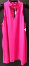 The Impeccable Pig Hot Pink Choker Dress Sleeveless Lined Sz L image 3