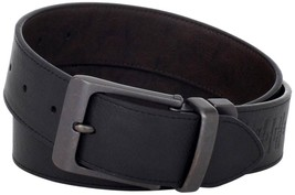 New Levi Men's Premium Genuine Leather Belt Black Brown Reversible 11LV1226