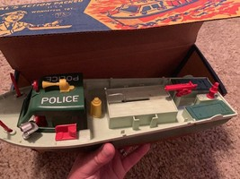 Vintage ideal toy corp mechanical harbor police boat no. 4027 with original box - $138.59