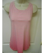 Athletic Works sz M (8-10) pink mesh sheer back Workout Top - $8.90