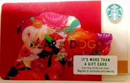 Starbucks 2018 Lunar Chinese New Year Of The Dog Flowers Gift Card New No Value - $5.00