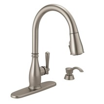 Charmaine Single-Handle Pull-Down Sprayer Kitchen Faucet with Soap Dispe... - $238.93