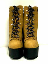 Qupid Women's Boots Iggy 07, Camel Nubuck PU Leather Shoes, US 8 - $39.59